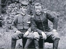 POST CARD OF A CIVIL WAR PHOTOGRAPH OF GENERAL CUSTER & CONFEDERATE SOLDIER