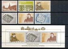Suriname Zonnebloem  418 - 424 postfris motief schaken