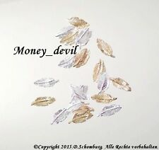 Profistyle by money_devil Nageldesign Gold & Silber Feder Inlays Charms Overlays