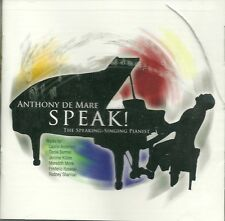 ANTHONY DE MARE Speak! CD US 2008 Modern Classical CONTEMPORARY Piano NEW/SEALED