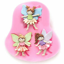 3 Angel Shape Silicone Fondant Cake Baking Mold DIY Handmade Soap Bakeware Mold