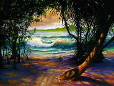 HD Print Island landscape Oil painting Picture Printed on canvas 12X16 Inch P255