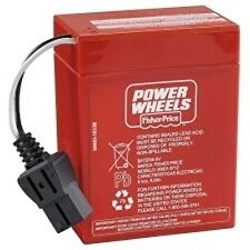 Power Wheels P5063 Firerock Jeep Wrangler Replacement 6V Rechargeable Battery