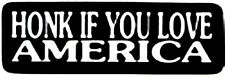 HONK IF YOU LOVE AMERICA HELMET STICKER
