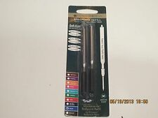 2 Lamy Ballpoint Refills-BLUE-BLACK- Medium, New Soft Roller Style by Monteverde