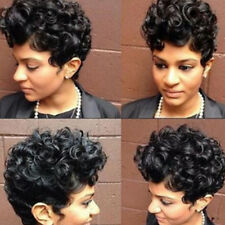 Womens Afro Synthetic Heat Resistant Hair Wig Kinky Curly Curls Short Wigs Black