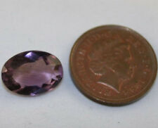 FACETED OVAL GEM 10X14 AMETHYST LOOSE GEMSTONE 4.6CT LIGHT PURPLE AM18