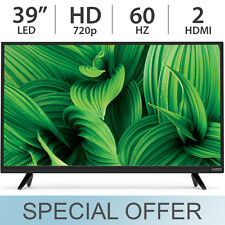 "VIZIO 39"" Inch 720p LED HD TV 60Hz HDTV w/ 2 HDMI Black - D39HN-E0"