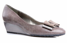 Ladies' Formal Wedge shoe Van Dal Lille II Metal Lizard/Suede UK Size 4.5 D Fit