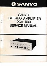 Service manual manual for Sanyo DCA 1100