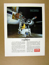 1960 United Air Lines Clark Fork Truck Loading Airplane photo vintage print Ad