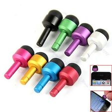 8x 3.5mm Earphone Jack Plug Dust Cover Mini Touch Pen Stylus For iPod iPhone 4S