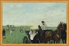 At the Races in the Countryside Edgar Degas Pferde Kutsche Rennen B A2 01442