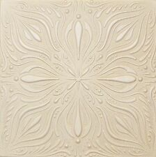 Faux Finish Styrofoam Ceiling Tile R9 Designer Champagne White Painted