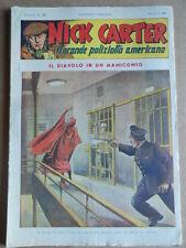 Nick Carter Il Grande poliziotto americano Anni 40 n°27 ed. NERBINI  [G369]