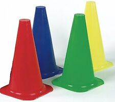 Set of 4 Colored Traffic cones Soccer Hurdles Marker Cones Size 6""