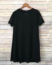 Brandy Melville Black Stretch sheer sleeve Swing Dress-One Size