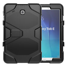 """Waterproof/Dirt/Shockproof Stand Case For Samsung Galaxy Tab E 9.6"""" T560 Black"""