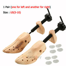 2Pcs Mens / Women Wooden Adjustable 2-Way Shoe Stretcher Shaper Tree US(5-10)