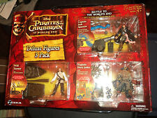 PIRATES OF THE CARIBBEAN DELUXE 3 PK FIGURE DAVY JONES JACK SPARROW WILL TURNER