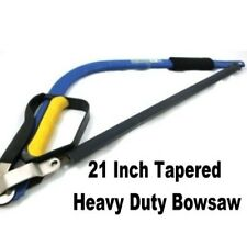 "21"" Heavy Duty Tapered Bow Saw.  PRUNING - LOGS - CAMPING"