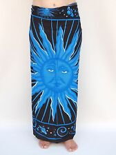 NEW UNISEX MENS WOMENS BLACK BLUE SUN SARONG BEACH POOL THROW PAREO BNIP / sa380