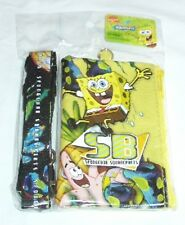 Yellow Spongebob Squarepants Lanyard Fast Pass ID Badge Holder Zipper Wallet :o)