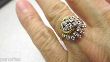 Beautiful 14k Gold Diamond Cocktail Ring size 8 Clean white diamonds   Must Sell