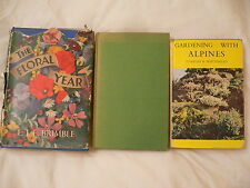 Gardening with Alpines.Alpines for Trouble Free Gardening.The Floral Year.3Books
