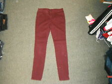 "Denim Co Slim Leg Jeans Size 12 Leg 31"" Maroon/Red Faded Ladies Jeans"