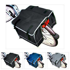 DOUBLE BICYCLE CYCLE PANNIER BAG REAR BIKE RACK CARRIER WATER RESISTANT NYLON X