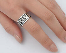USA Seller Celtic Band Ring Sterling Silver 925 Best Deal Plain Jewelry Size 14