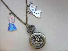 Stunning Frozen Necklace Watch with Charms