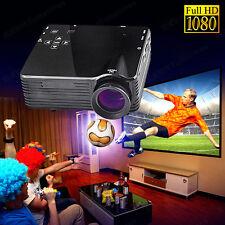 USB SD HDMI TV VGA HD LED Video LCD 1080P Mini Home Theatre Cinema Projector WL