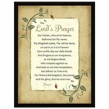 The Lord's Prayer Framed Plaque, New, Free Shipping