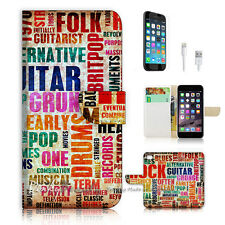 iPhone 7 PLUS (5.5') Flip Wallet Case Cover P0703 Music