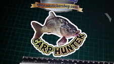 Carp Hunter Fishing Sticker, Full Colour Bait, Lure, Angling, Crafty Crew Coarse