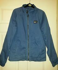 Mens Super Dry Blue Smart Jacket Coat Blazer Cardigan Jumper Top Size M Vgc