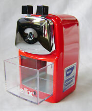 NEW HELIX DESKTOP PENCIL SHARPENER WITH DESK CLAMP MANUAL ROTARY HANDLE RED
