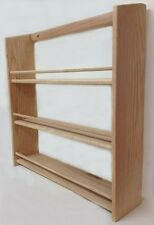 "Solid OAK Wood EXTRA DEEP Spice Rack / 20.5""H x 20""W x 4.75""D / Wall Mountable"
