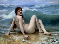 The Wave by William Bouguereau Old Masters Print