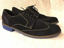 Cole Haan mens Navy blue suede shoes win tip size 13 M good shape