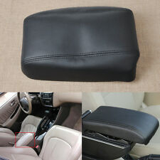 For 1998-2002 Honda Accord Black Leather Center Console Lid Armrest Cover Skin