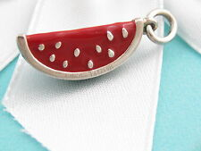 Authentic Rare New Tiffany & Co Red Green Enamel Picasso Watermelon Charm