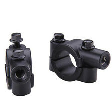 1*Motorcycle Bike Handlebar Mirror Mount Adapter Holder Clamp Black 8mm