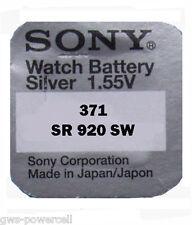 1 x Sony  371 SR69 1,5V V371 SR 69 Knopfbatterie SR920SW AG6 UHRENBATTERIE