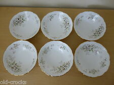6 Royal Albert Haworth Bowls - 1st Quality English Bone China