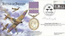 BB2 WW2 Battle of Britain Spitfire RAF cover 2015 Biggin Hill signed WRIGHT DFC