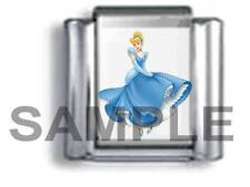 PRINCESS CINDERELLA 9MM ITALIAN PHOTO CHARM LINK fairytale fairy believe love