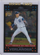 JUSTIN VERLANDER Topps Chrome ROOKIE CARD Detroit Tigers Baseball 2007 MLB RC!